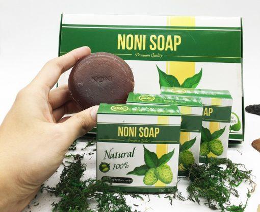 Hộp 6 Bánh Xà Bông Nhàu Noni Green - Organic Noni Soap 8
