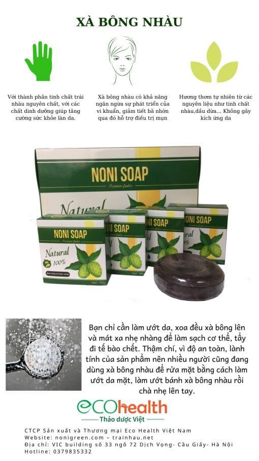 Combo xà bông nhàu noni soap 노니비누 6 bánh Noni Green 1