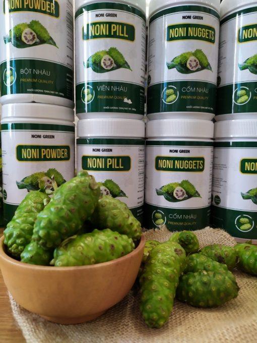 Viên nhàu 노니알 Noni Green chai nhựa 500g 4