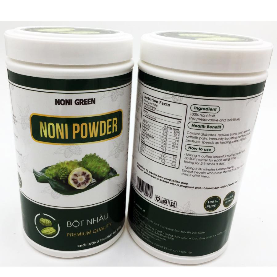 Bột nhàu 노니 가루 Noni Green 500g chai nhựa 2
