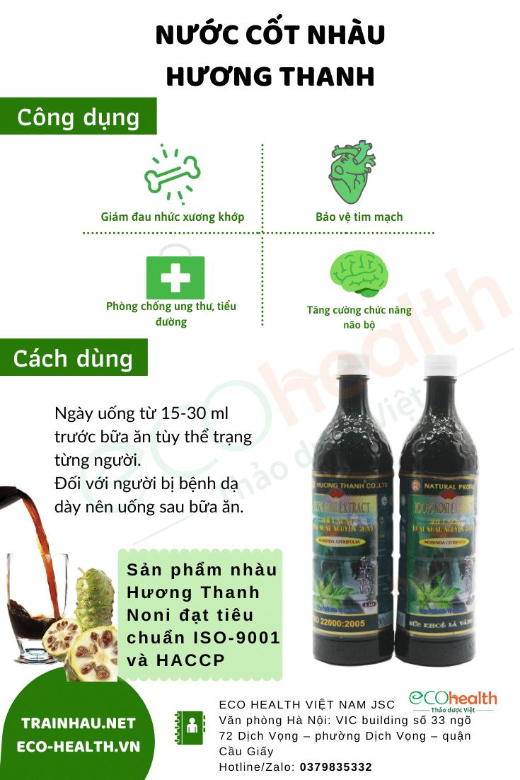 Combo 5 chai nước cốt nhàu noni juice 노니즙 Hương Thanh 2