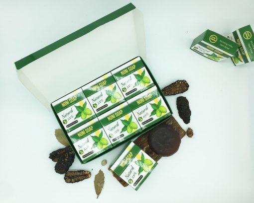 Hộp 6 Bánh Xà Bông Nhàu Noni Green - Organic Noni Soap 4