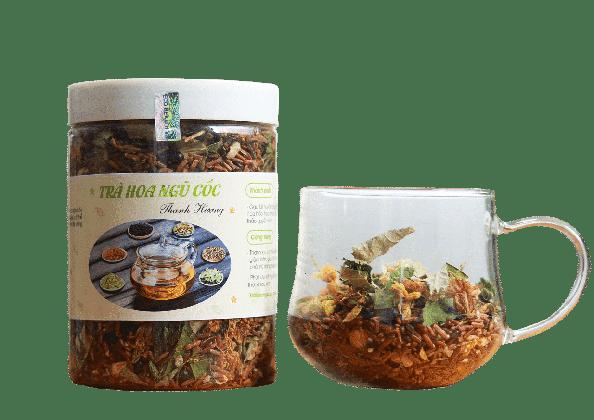 Trà thanh nhiệt trà hoa ngũ cốc hộp 500g (có đậu đỏ)