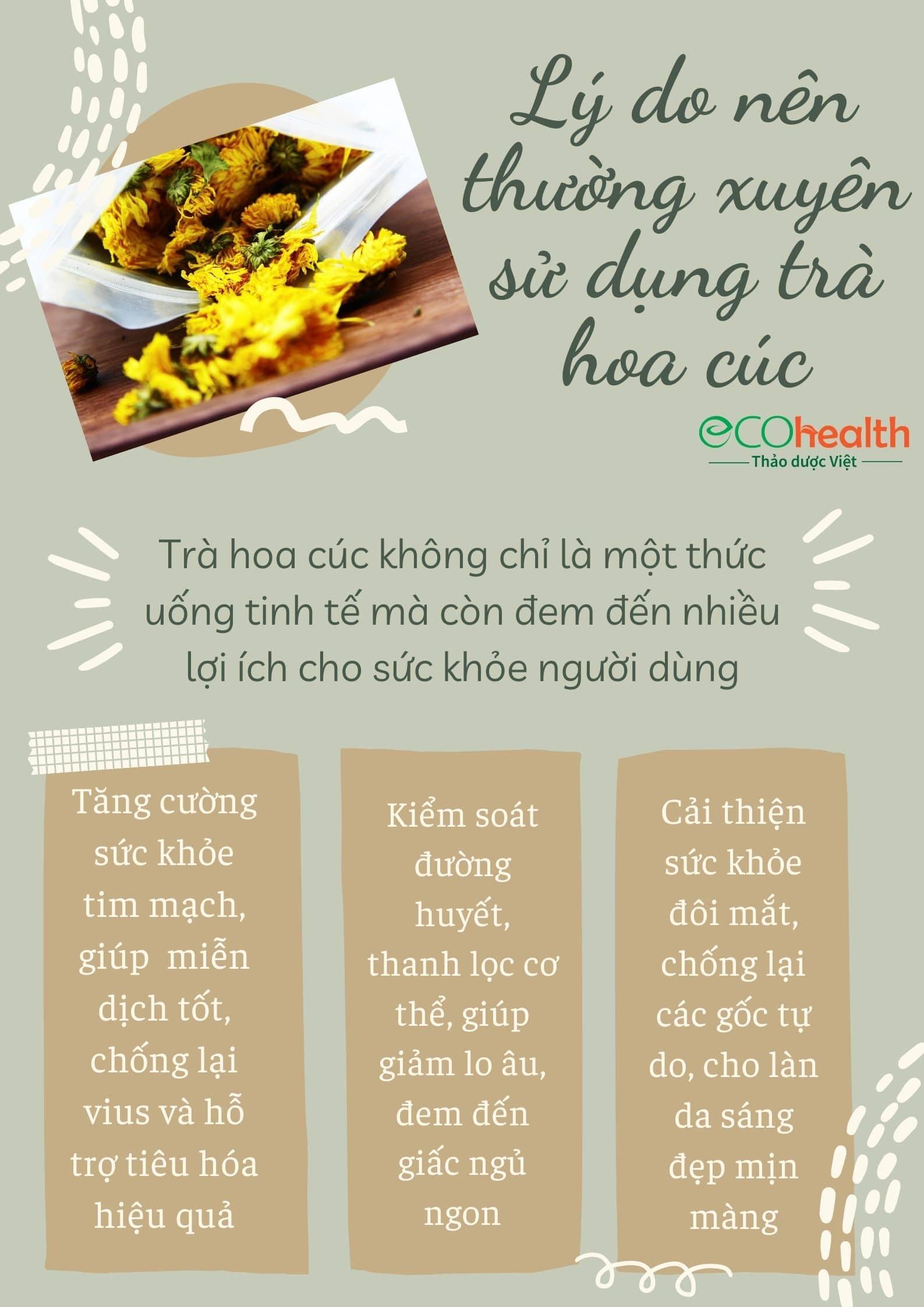 Trà hoa cúc vàng gói 100g 4