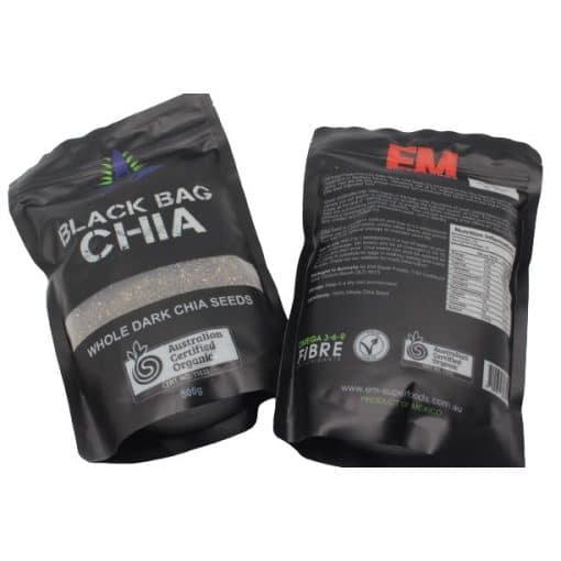 Hạt chia Úc Black Bag Chia gói 500g