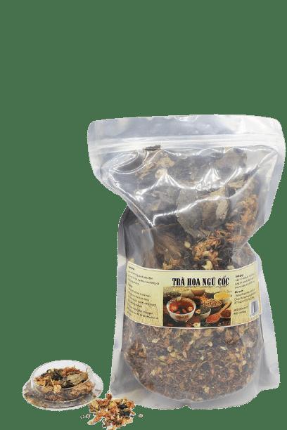 1kg Trà hoa ngũ cốc túi zip 8 thành phần 9