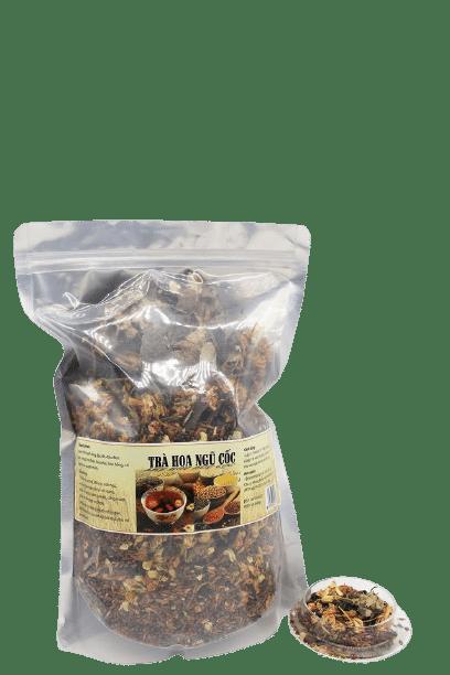 1kg Trà hoa ngũ cốc túi zip 8 thành phần 10