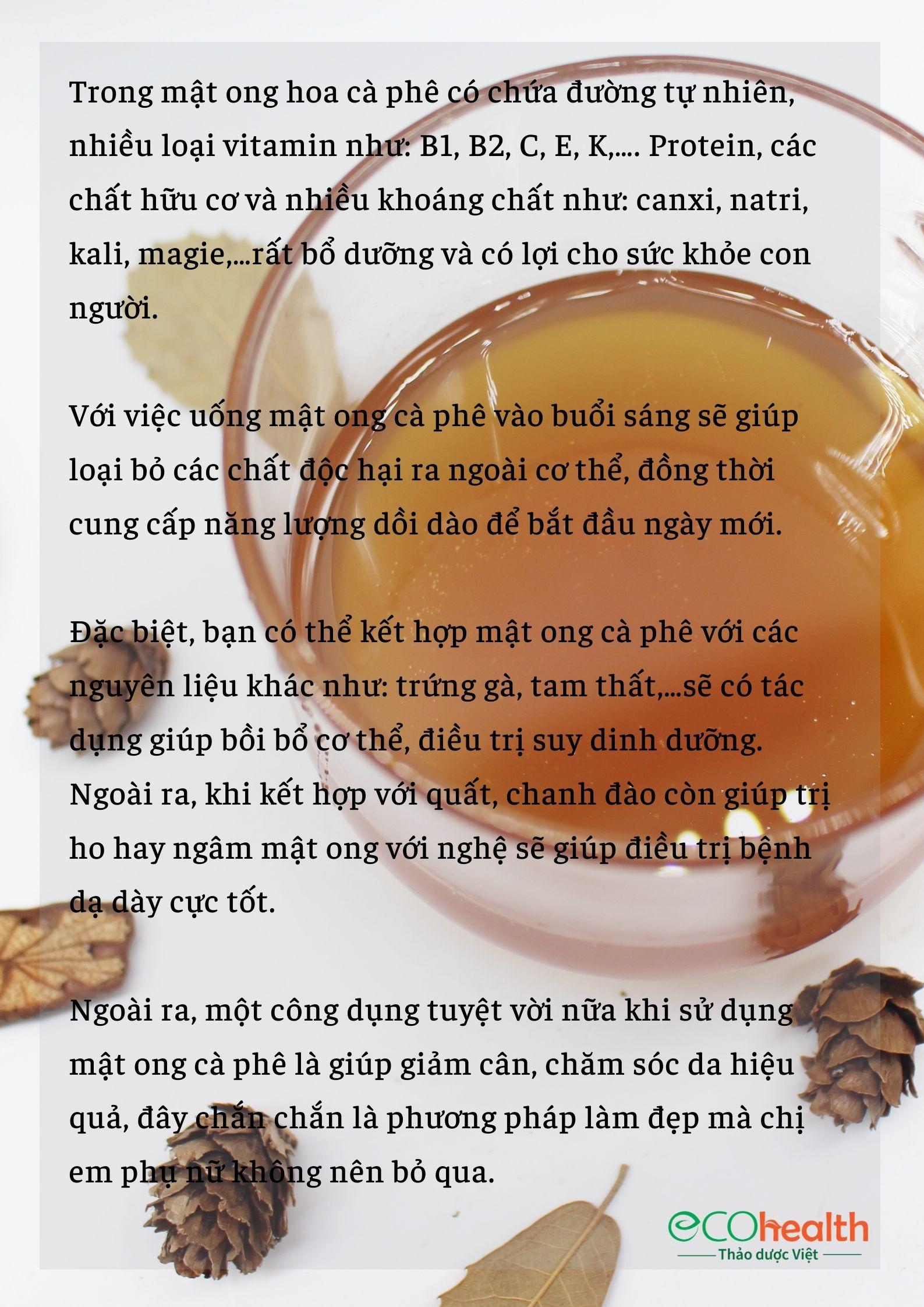 1 lít Mật ong hoa cà phê nguyên chất 10